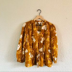 A New Day Drawstring Golden Yellow Top